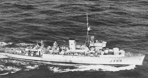 HMCS FORT FRANCES, March 28th, 1945 - Algerine Class Minesweeper