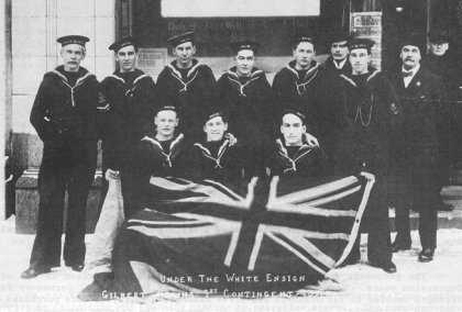 Under the White Ensign - Gilbert Plains 1st Contingent 1915.