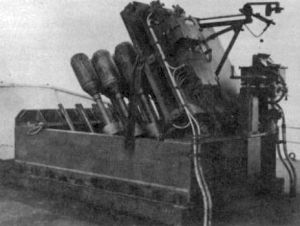 The Hedgehog antisubmarine mortar.