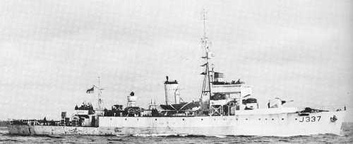 HMCS WINNIPEG, November 8th, 1944 - Algerine Class Minesweeper
