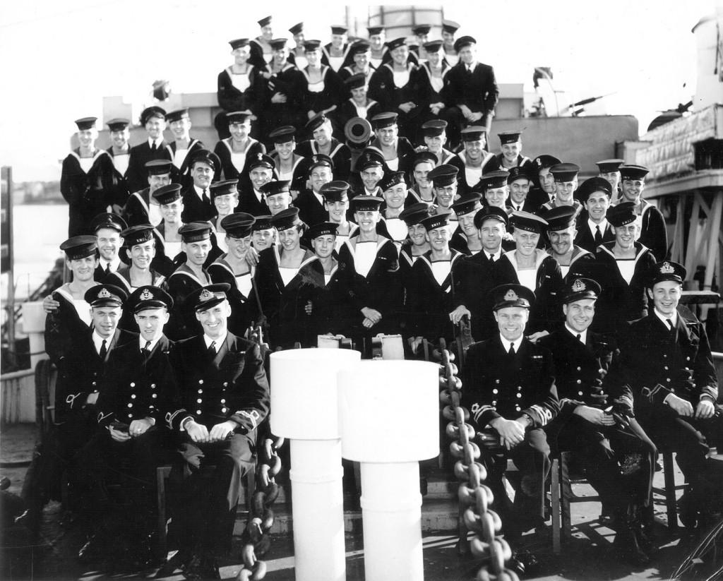 HMCS SHAWINIGAN- Ship's Company Photo
