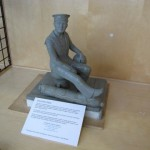Scale model of the proposed Manitoba Sailor Statue