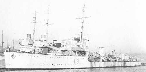 HMCS ASSINIBOINE, December, 1940 - River Class Destroyer