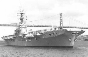 HMCS MAGNIFICENT - Served With the RCN from 1948 to 1957. Shown here off Jetty 4, Halifax Dockyard.
